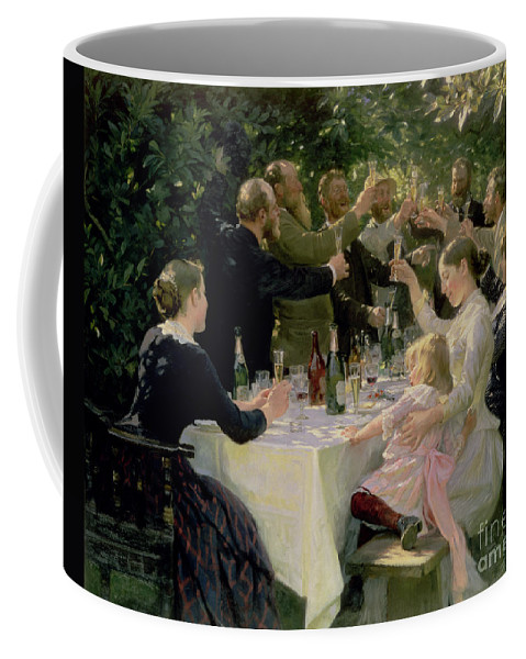 Party Coffee Mug featuring the painting Hip Hip Hurrah by Peder Severin Kroyer