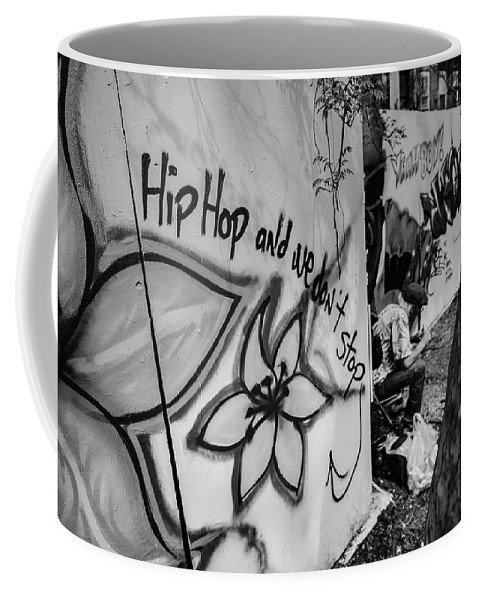 Hip Coffee Mug featuring the photograph Hip Hop We Don't Stop by Christian Mullin