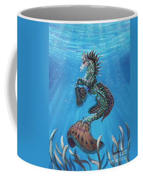 Seahorse Coffee Mug featuring the painting Hippocampus by Stanley Morrison
