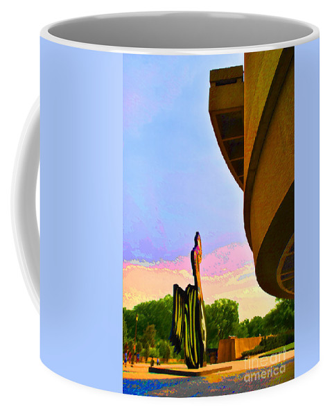 Smithsonian Coffee Mug featuring the photograph Hirshhorn Sky by Jost Houk