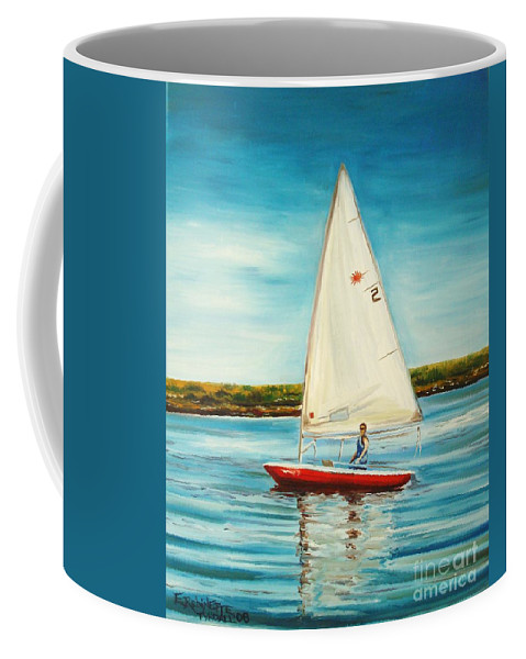 Water Coffee Mug featuring the painting His Laser by Elizabeth Robinette Tyndall