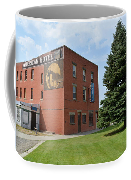 Hotel Coffee Mug featuring the photograph Historic American Hotel by Ed Mosier