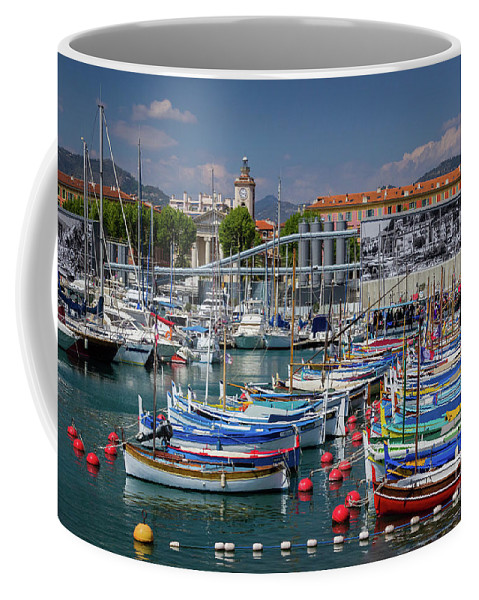 Cote D'azur Coffee Mug featuring the photograph Historic Port Of Nice, France by Liesl Walsh