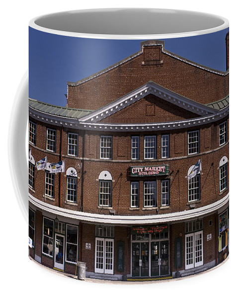 Historic Coffee Mug featuring the photograph Historic Roanoke City Market Building by Teresa Mucha