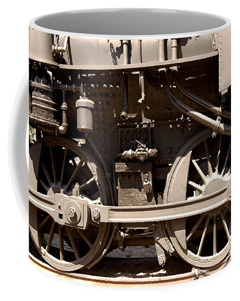 Clay Coffee Mug featuring the photograph Historic Trains by Clayton Bruster