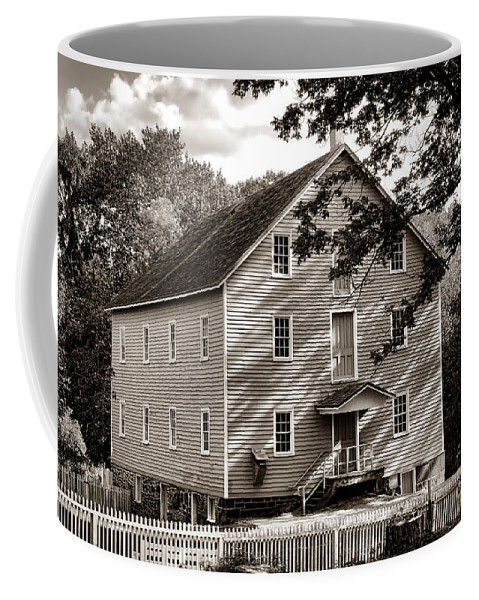 Walnford Coffee Mug featuring the photograph Historic Walnford Mill by Olivier Le Queinec