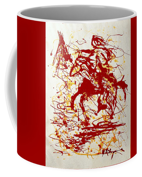 Indian Coffee Mug featuring the painting History In Blood by J R Seymour