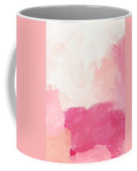 Abstract Coffee Mug featuring the mixed media History of Pink- Abstract Art by Linda Woods by Linda Woods