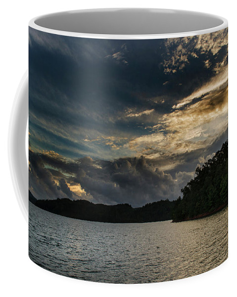 Hiwassee Lake Coffee Mug featuring the photograph Hiwassee Lake From Hanging Dog Recreation Area by Greg Mimbs
