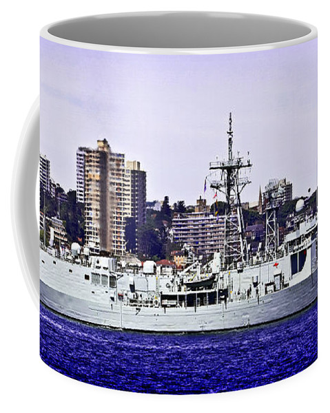 Hmas Coffee Mug featuring the photograph Hmas Darwin Ffg 04 by Miroslava Jurcik