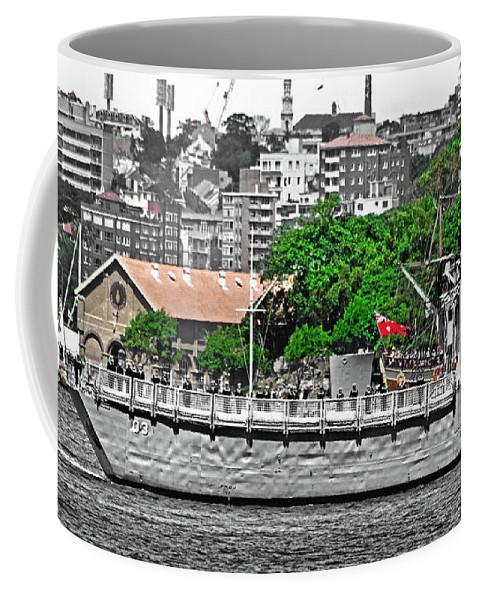 Hmas Sydney Coffee Mug featuring the photograph Hmas Sydney In Sydney by Miroslava Jurcik