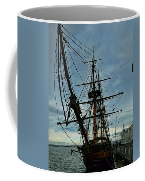 California Coffee Mug featuring the photograph Hms Surprise by Tommy Anderson
