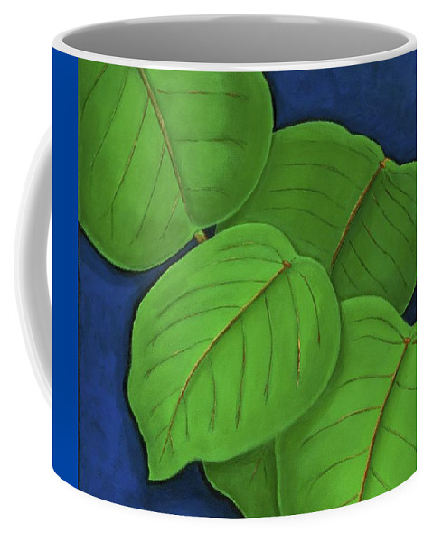 Leaves Coffee Mug featuring the painting Hojas by Maureen Schmidt