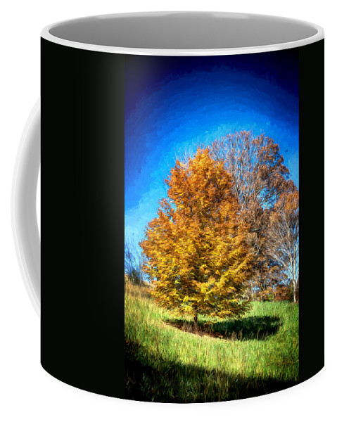 John Haldane Coffee Mug featuring the digital art Holding On As Others Drop by John Haldane