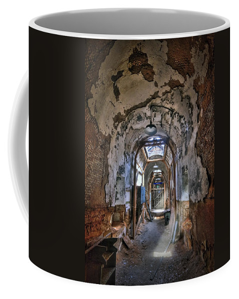Abandoned Coffee Mug featuring the photograph Holes In The Walls by Evelina Kremsdorf