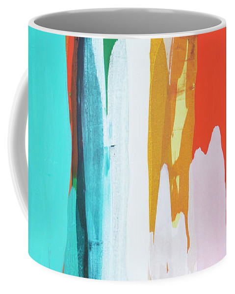 Abstract Coffee Mug featuring the painting Holiday Everyday by Claire Desjardins
