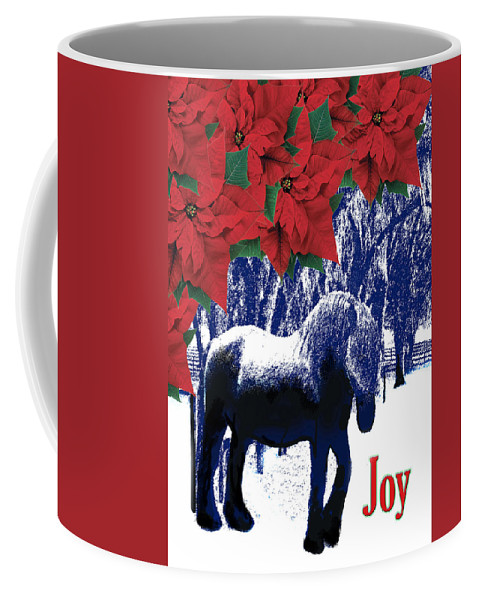 Christmas Card Coffee Mug featuring the photograph Holiday Joy Card by Adele Moscaritolo