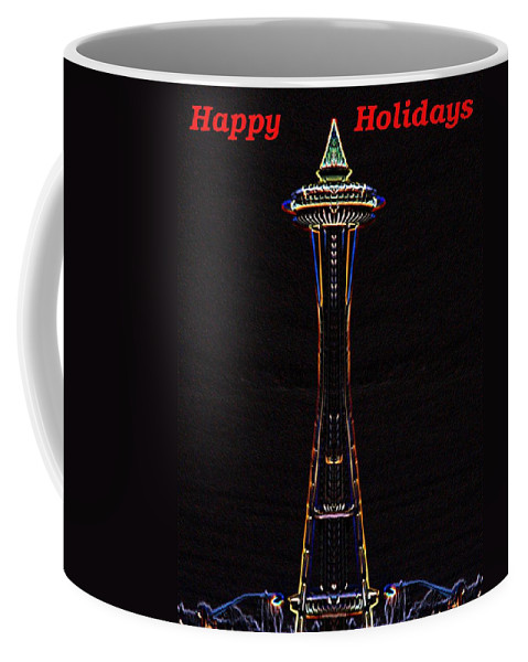 Seattle Coffee Mug featuring the photograph Holiday Needle 3 by Tim Allen