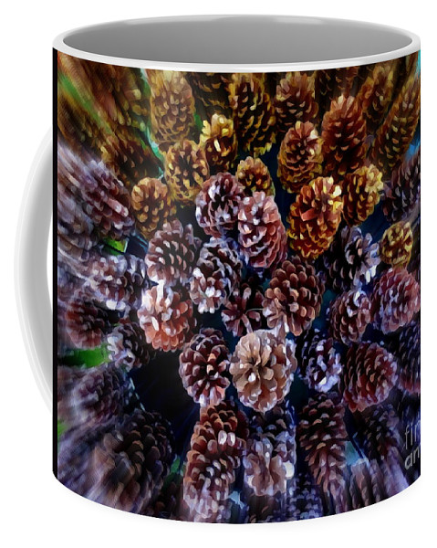 Digital Coffee Mug featuring the photograph Holiday Pinecones #2 by Ed Weidman