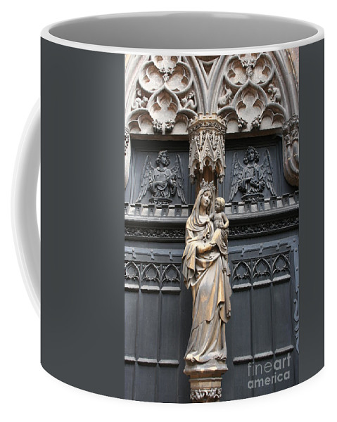 Holy Mary Coffee Mug featuring the photograph Holy Mary And Child by Christiane Schulze Art And Photography