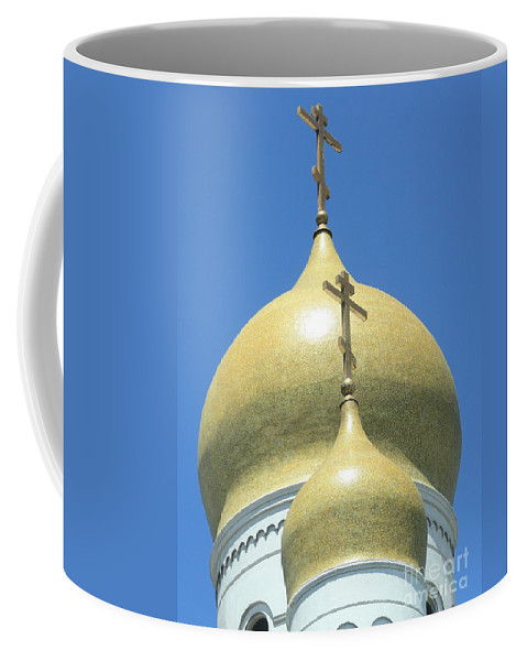 Holy Virgin Cathedral Coffee Mug featuring the photograph Holy Virgin Cathedral In San Francisco by Carol Groenen