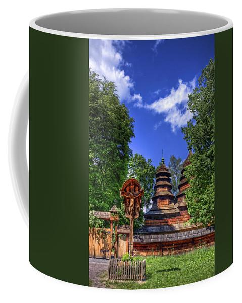 Church Coffee Mug featuring the photograph Holy Wood by Evelina Kremsdorf