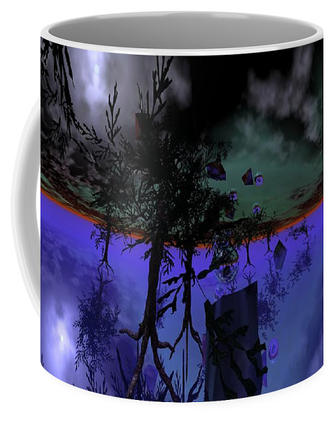Digital Painting Coffee Mug featuring the digital art Homage by David Lane