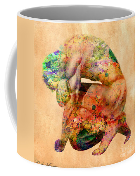 Male Nude Coffee Mug featuring the digital art Hombre Triste by Mark Ashkenazi