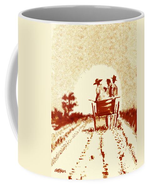 Old South Coffee Mug featuring the digital art Home Before Dark by Seth Weaver