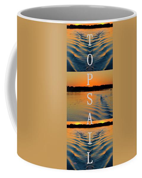 Topsail Island Coffee Mug featuring the digital art Home by Betsy Knapp