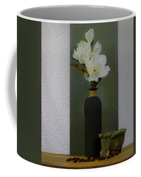 Fine Art Coffee Mug featuring the photograph Home Flowers Decor by John Laurance