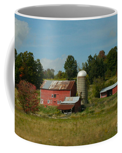 Farm Coffee Mug featuring the photograph Home On The Farm by Rick Monyahan
