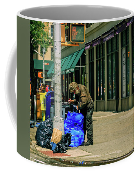 Homeless Coffee Mug featuring the photograph Homeless In Nyc by Charles A LaMatto