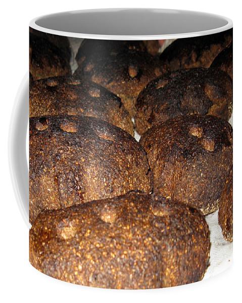 Food Coffee Mug featuring the photograph Homemade Lithuanian Rye Bread by Ausra Huntington nee Paulauskaite