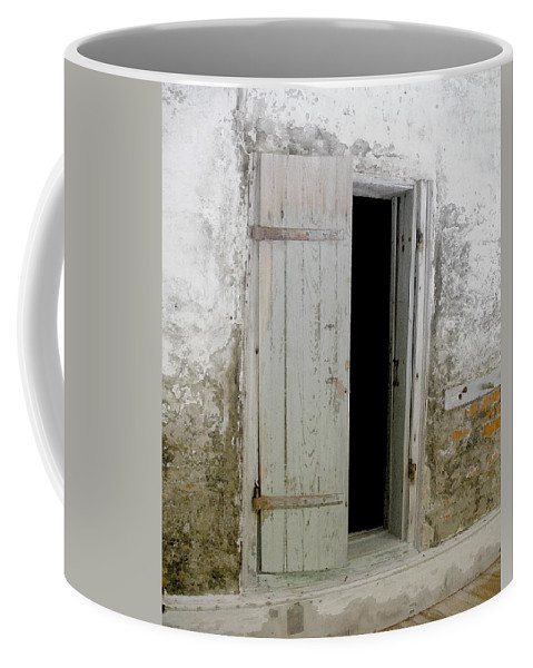 Door Coffee Mug featuring the photograph Homeplace Doorway by Nelson Strong