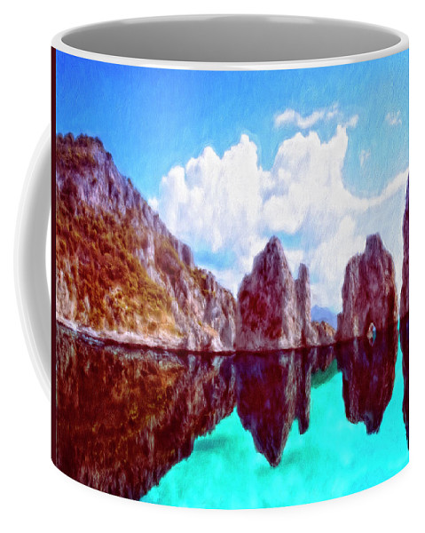 Honah Lee Coffee Mug featuring the painting Honah Lee by Dominic Piperata