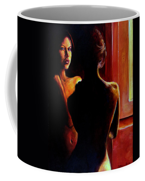 Nude Coffee Mug featuring the painting Honestly by Jason Reinhardt