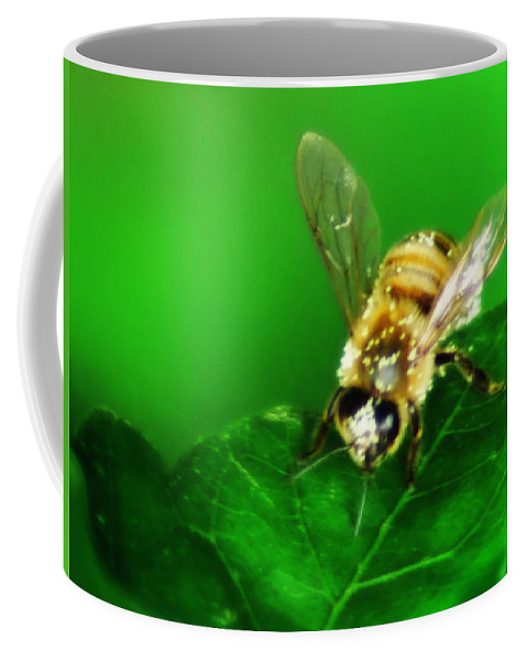 Honey Coffee Mug featuring the photograph Honey Bee by Bill Cannon