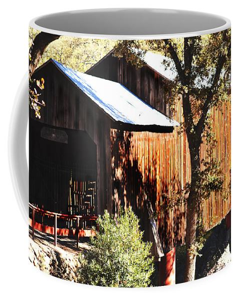 Bridge Coffee Mug featuring the photograph Honey Run Covered Bridge by Pamela Patch