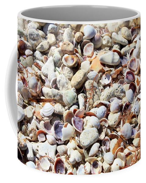 Shells Coffee Mug featuring the photograph Honeymoon Island Shells by Carol Groenen