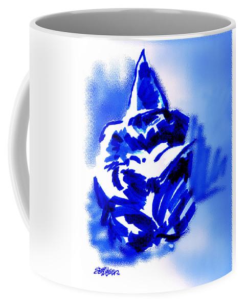 Hooded Coffee Mug featuring the digital art Hooded Scholar by Seth Weaver