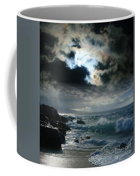 Aloha Coffee Mug featuring the photograph Hookipa Waiola O Ka Lewa I Luna Ua Paaia He Lani Maui Hawaii by Sharon Mau