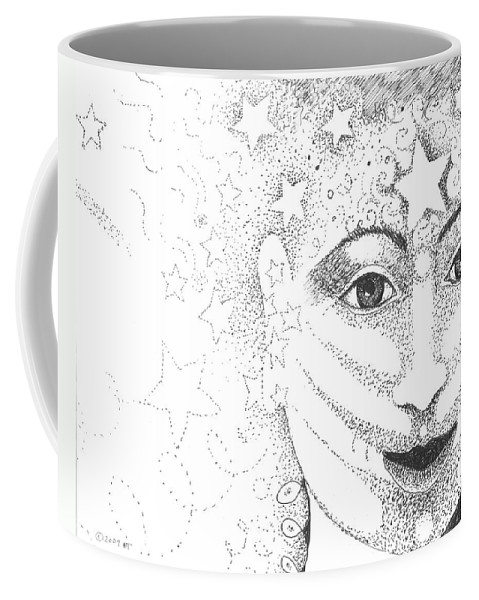 Hope Coffee Mug featuring the drawing Hope And Rebirth by Helena Tiainen