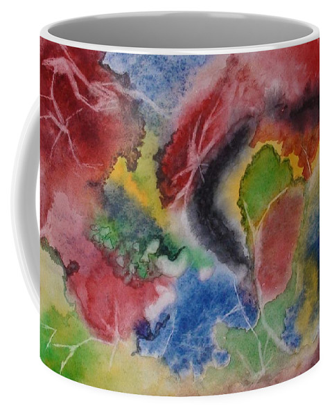 Abstract Painting Coffee Mug featuring the painting Hope Energy by Georgeta Blanaru