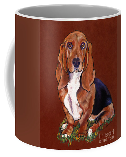 Animal Portraits Coffee Mug featuring the pastel Hope by Pat Saunders-White