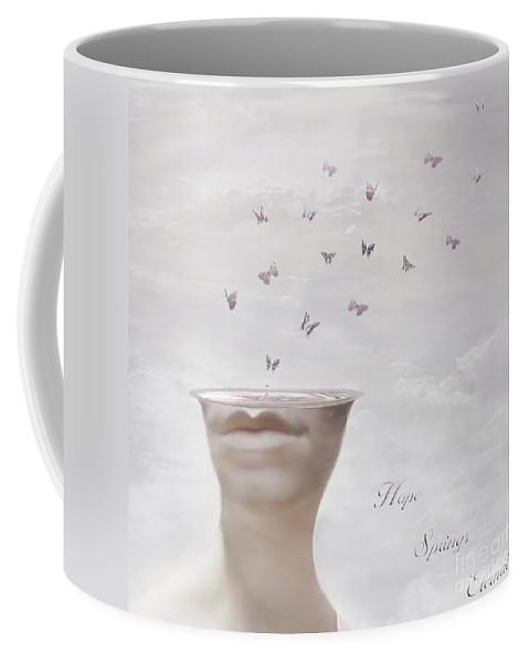 Surreal Coffee Mug featuring the digital art Hope Springs Eternal by Jacky Gerritsen