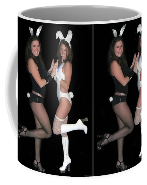 3d Coffee Mug featuring the photograph Hoppy Easter - Gently Cross Your Eyes And Focus On The Middle Image by Brian Wallace