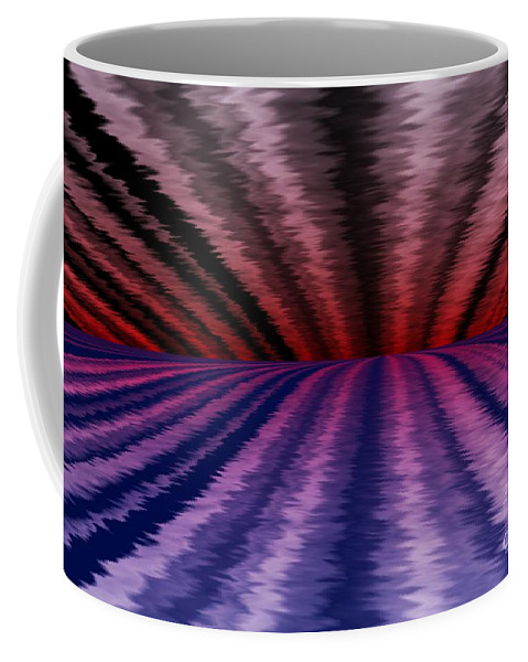 Abstract Coffee Mug featuring the digital art Horizon by David Lane