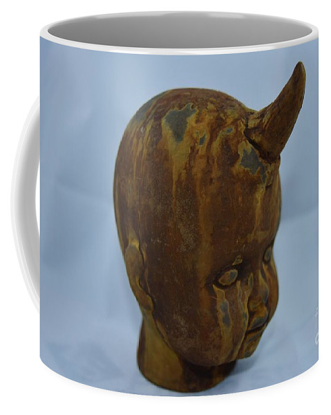 Babies Coffee Mug featuring the photograph Horned Baby by Lisa Kleiner