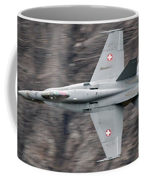Axalp Coffee Mug featuring the photograph Hornet by Angel Ciesniarska